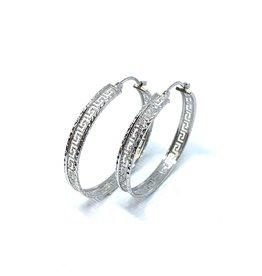 PARÉ Boucles d'oreille anneaux Versace  Or Blanc 10k