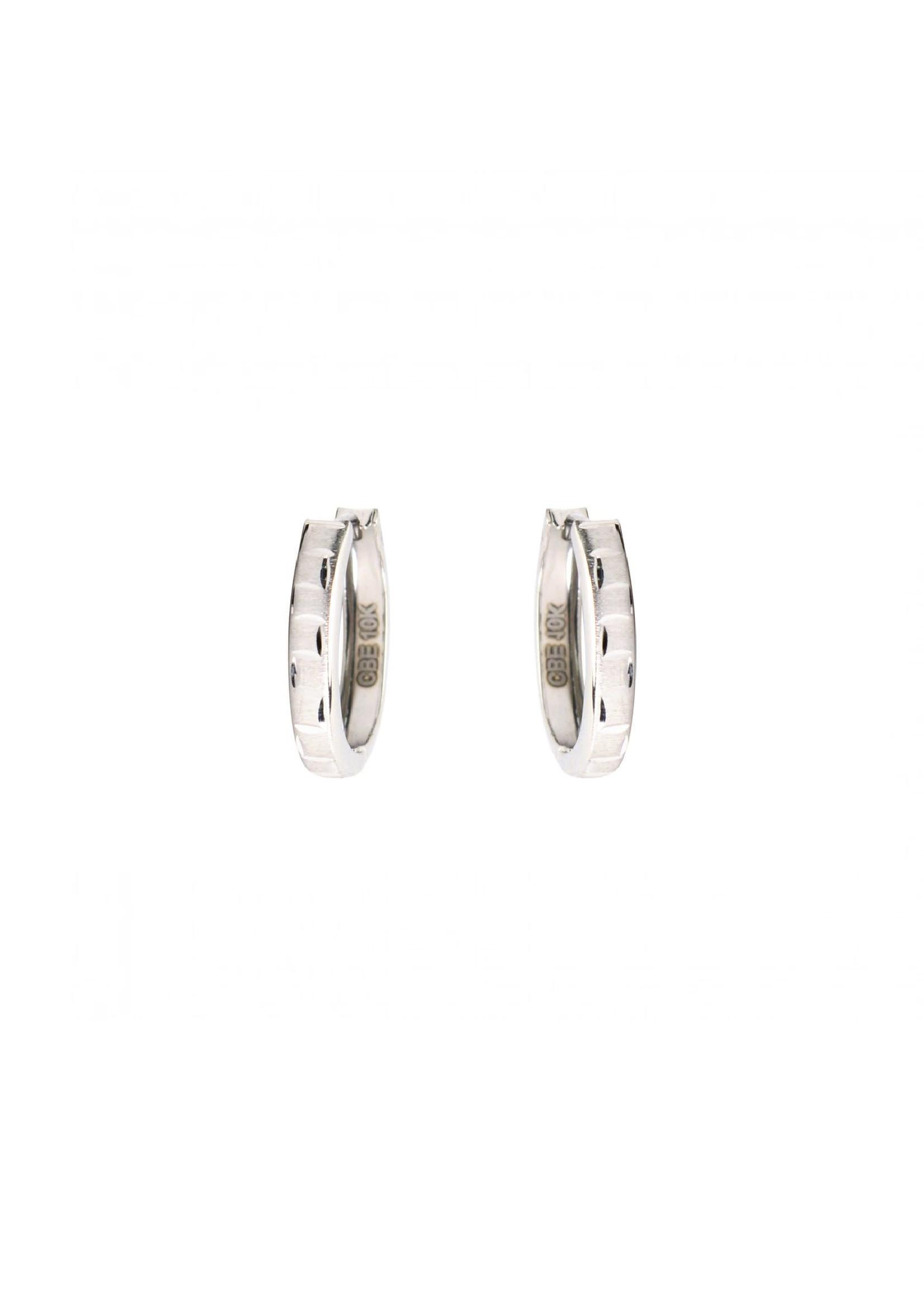 PARÉ Boucles d'oreilles Versace Ovales Huggies Or blanc 10K