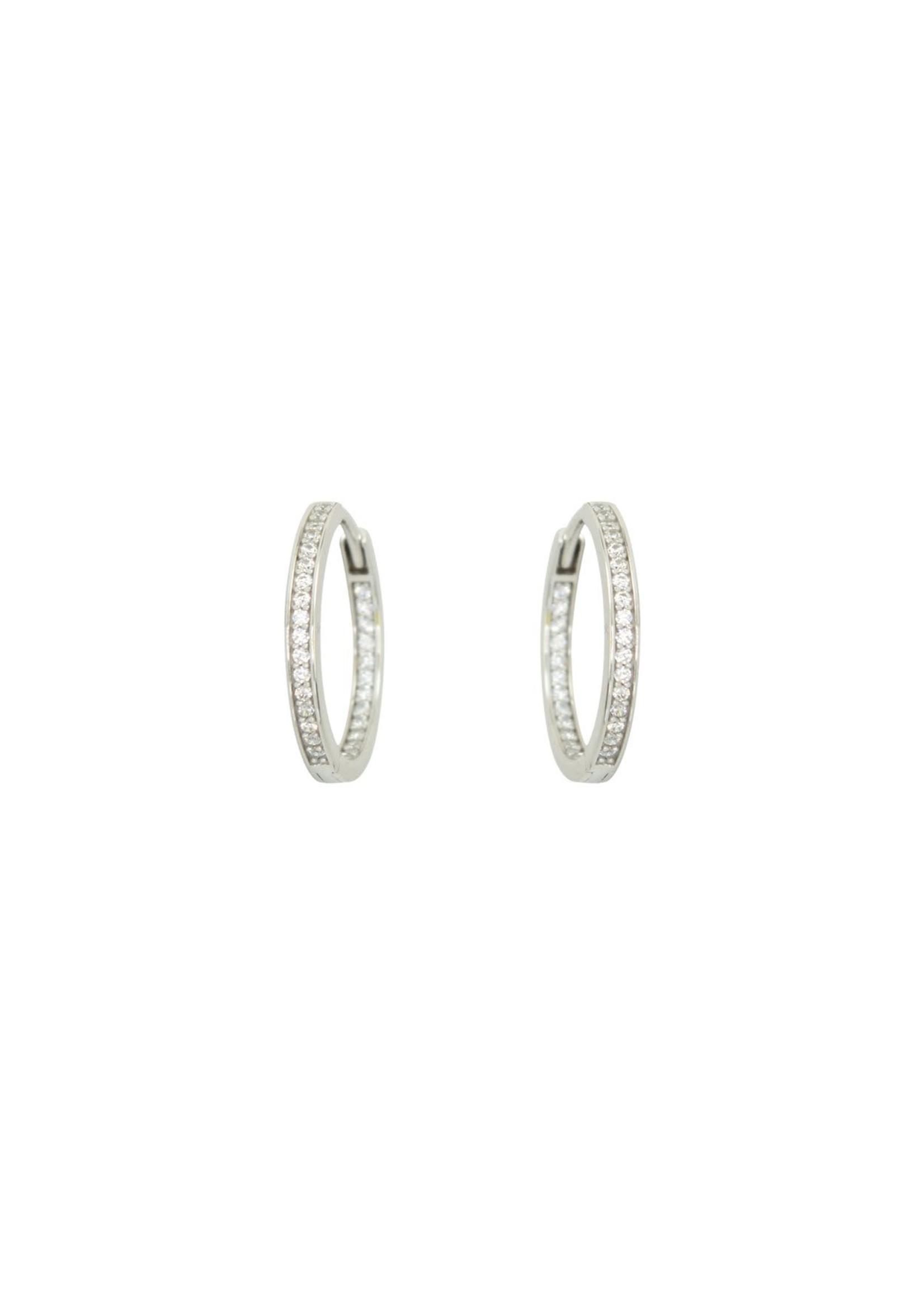PARÉ  Boucles d'oreille Huggies Or blanc 10k