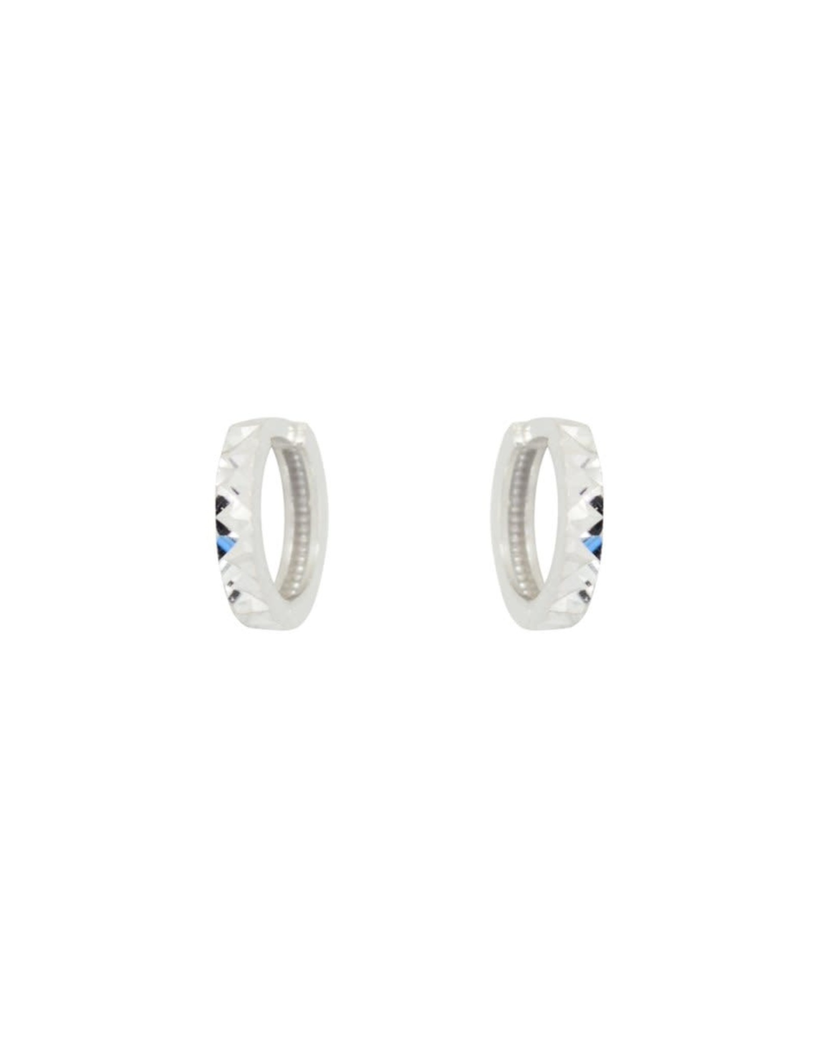 PARÉ Boucles d'oreille Huggies Enfant  Or blanc 10k