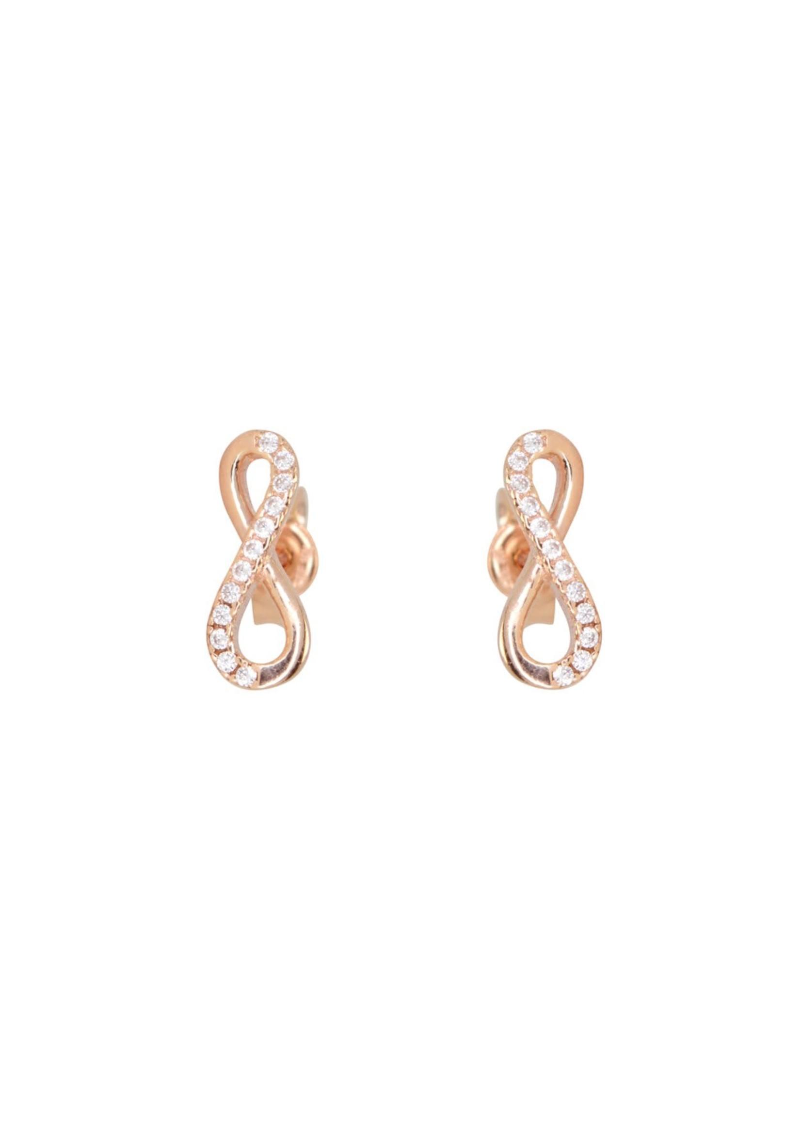 Boucles d'oreilles Stud Infini Or rose 10K
