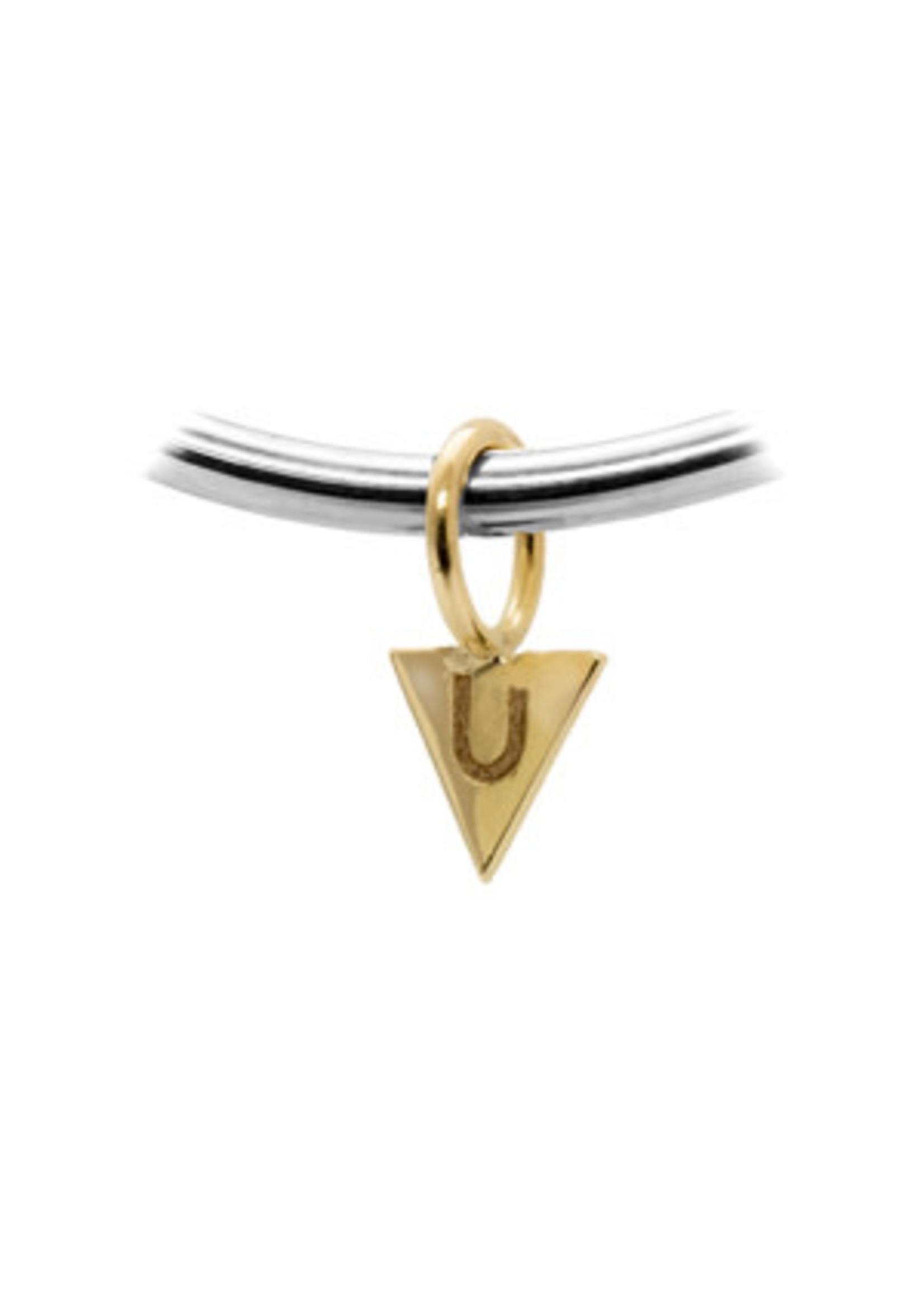 LokÜs Breloque «Pivu» triangle en Or