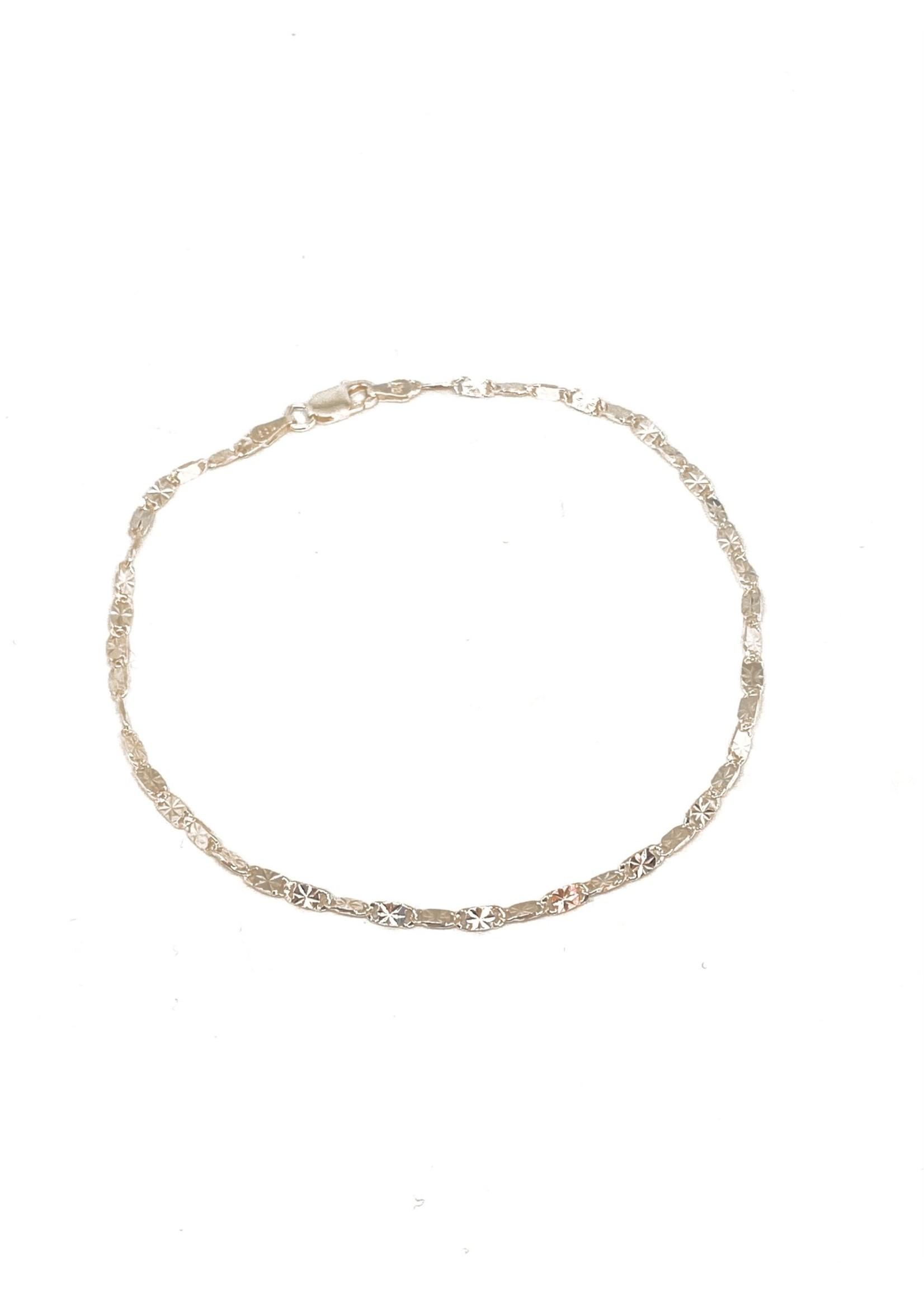 PARÉ Bracelet Marine Plat Étoilé Argent 925 rhodié