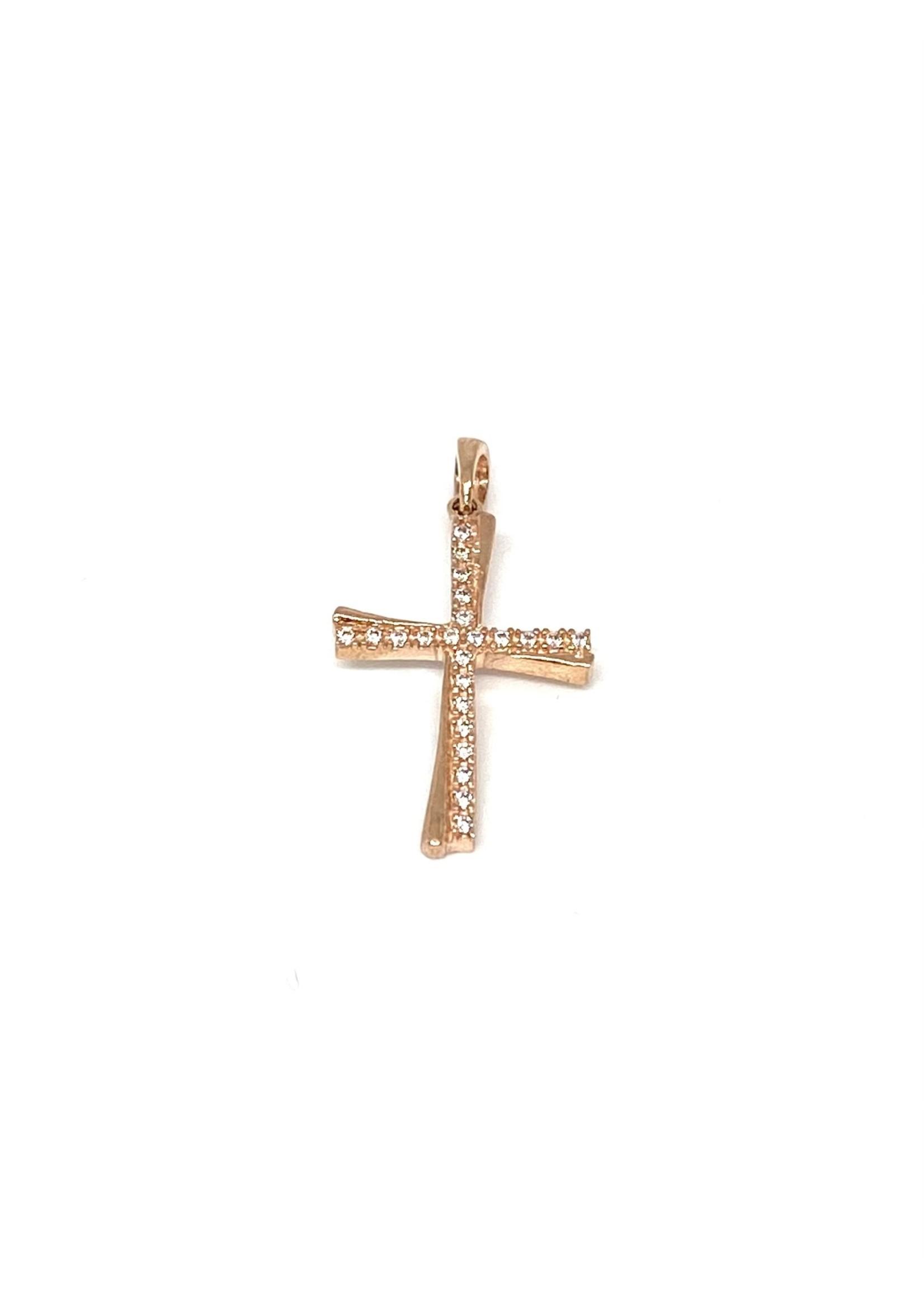 PARÉ Pendentif Croix Or rose 10K