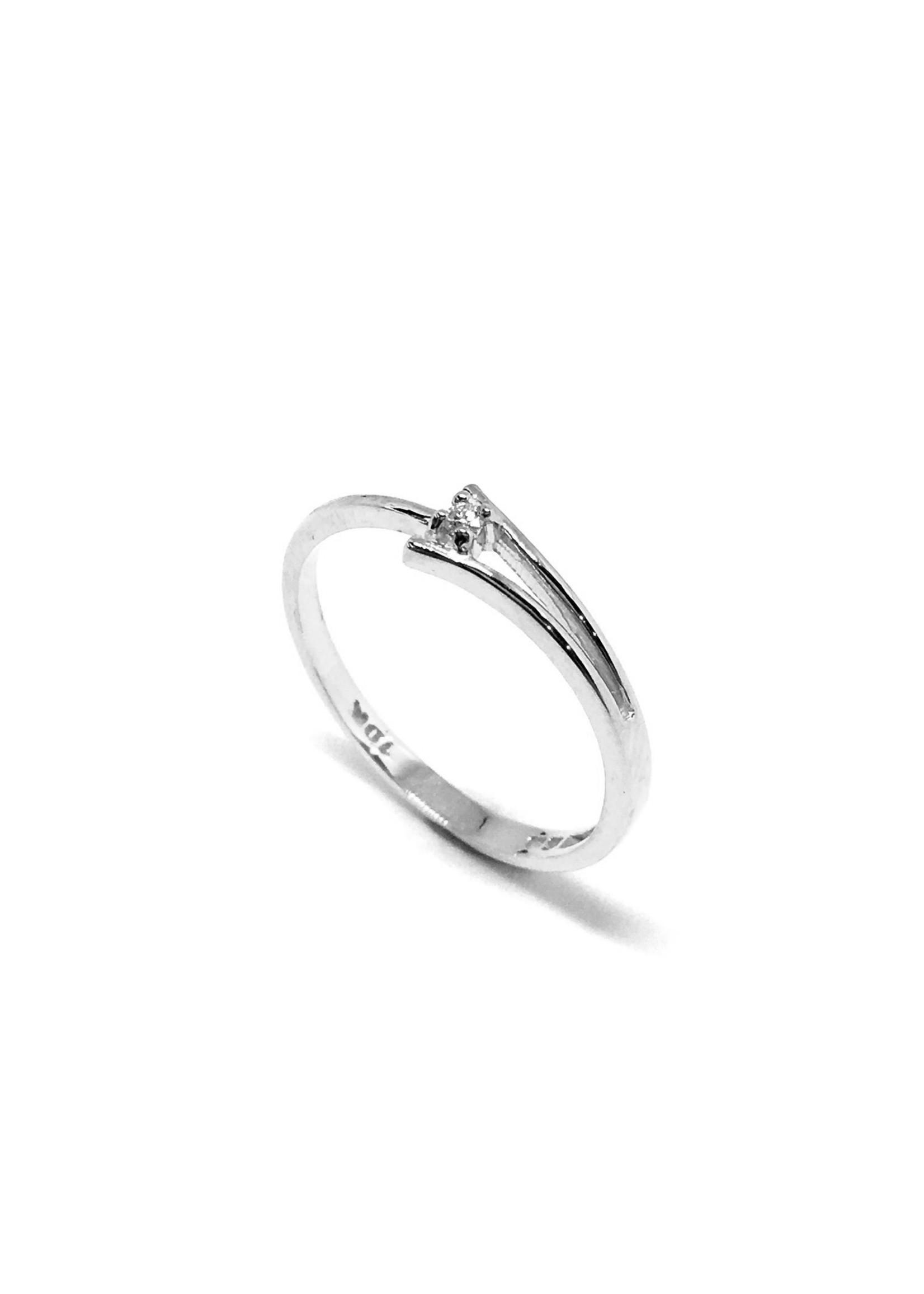 PARÉ Bague minimaliste Or 10K avec diamant