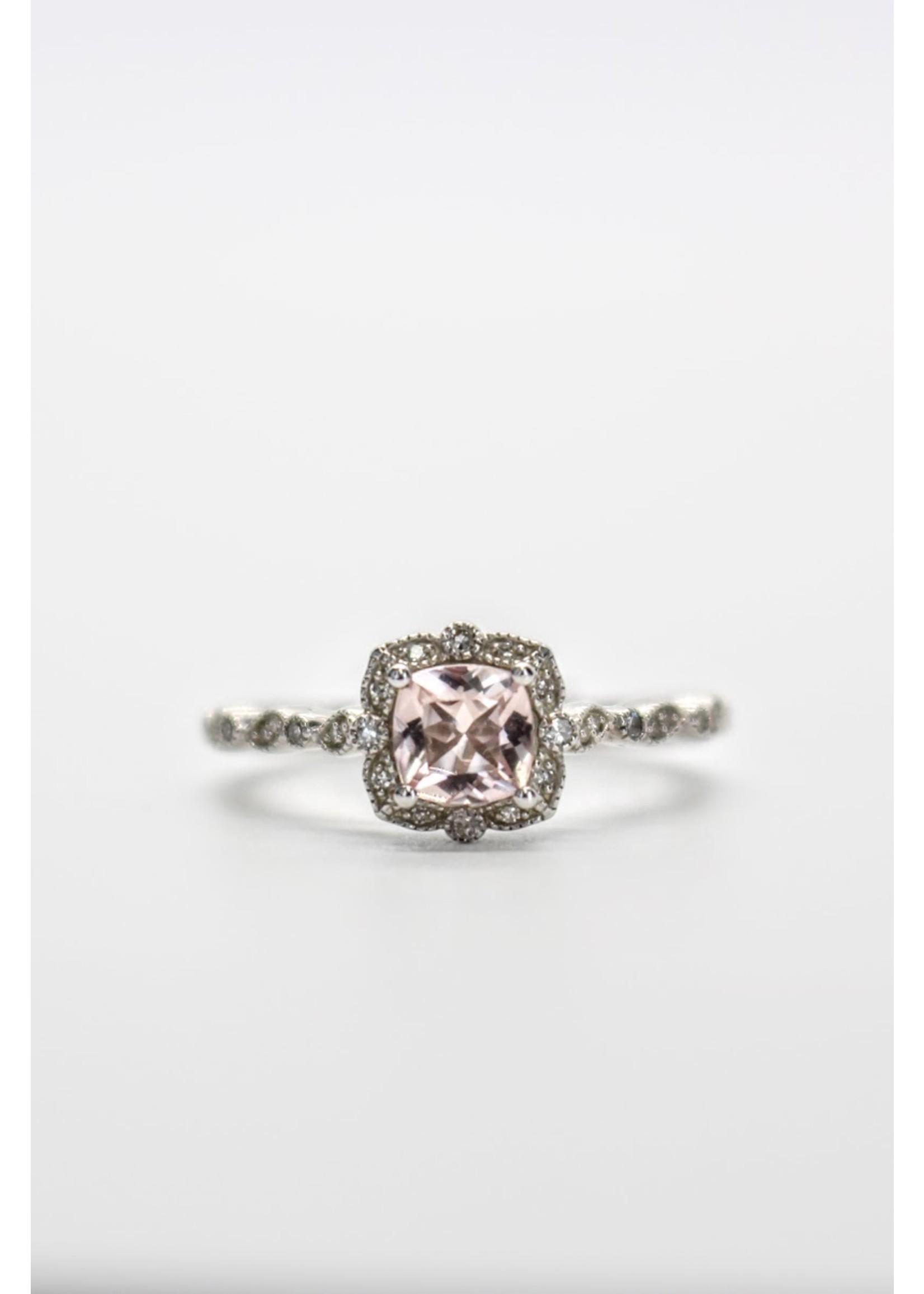 PARÉ Bague «Romantique» en Or blanc avec diamants