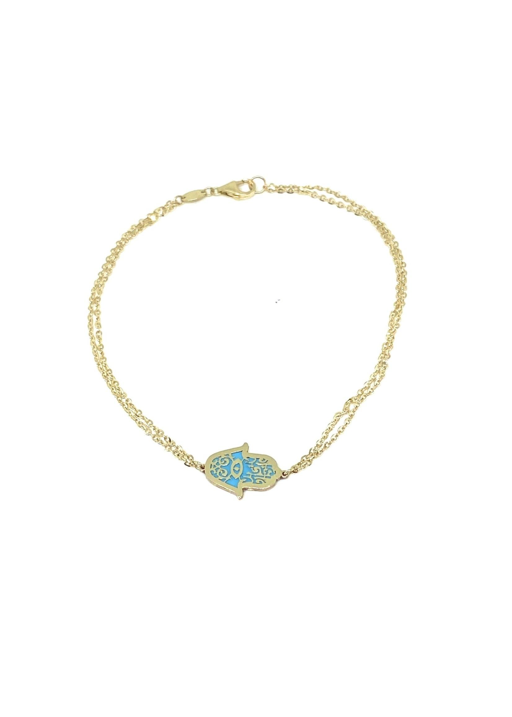PARÉ Bracelet Main de Fatima Or 10K