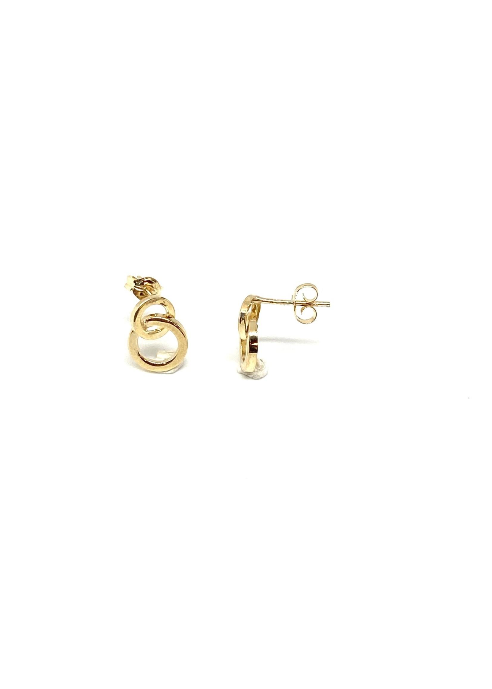 PARÉ Boucles d'oreilles Cercle minimaliste Or 10K