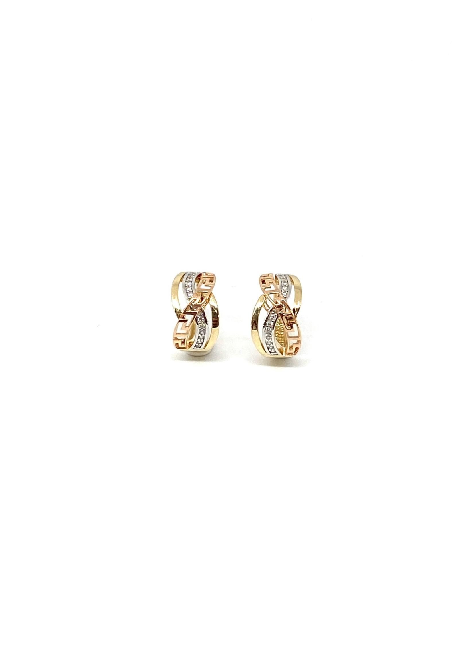 PARÉ Boucles d'oreilles Huggies Versace Or 10K 3 tons