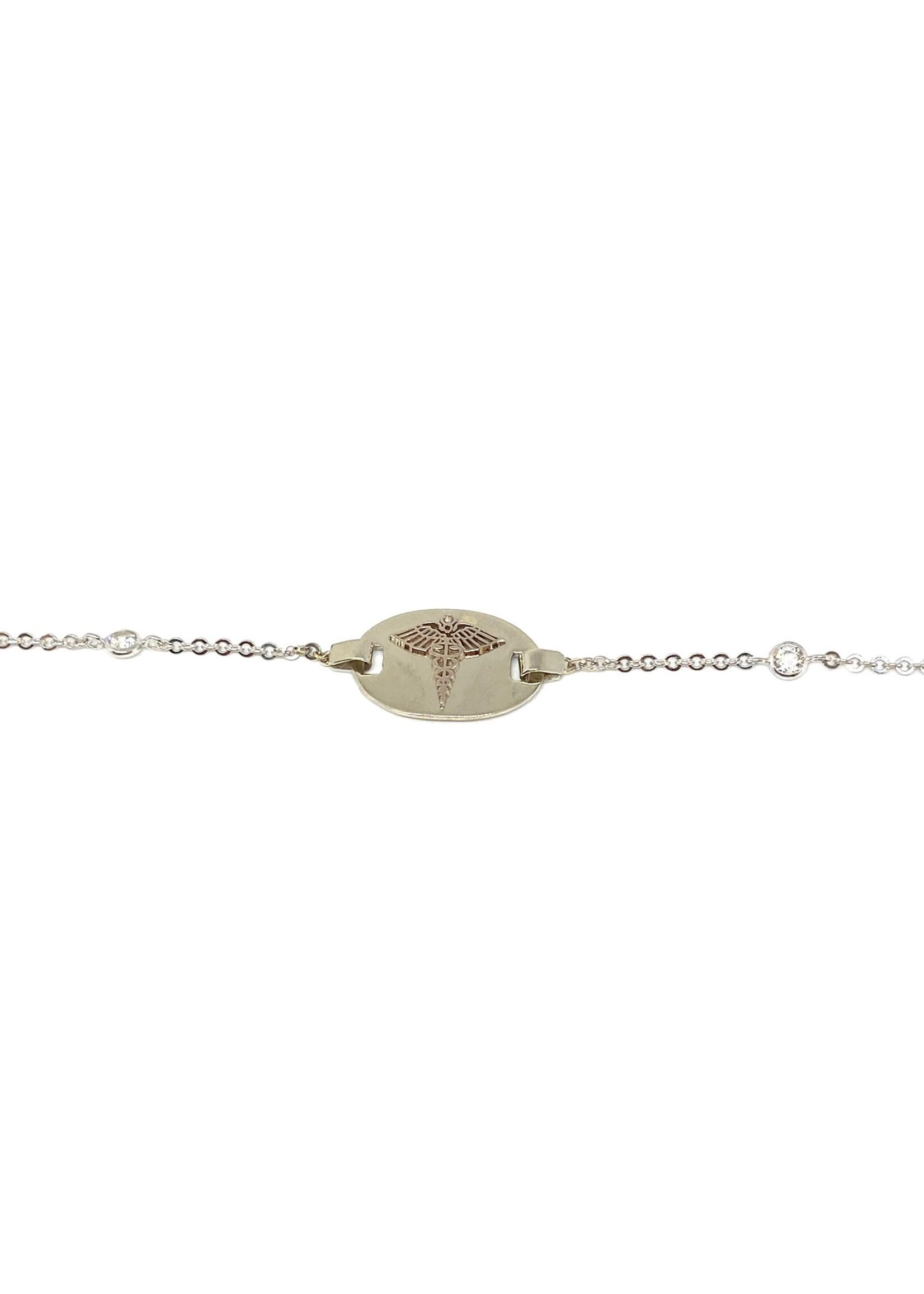 PARÉ Bracelet Medic forçat Or blanc 10K