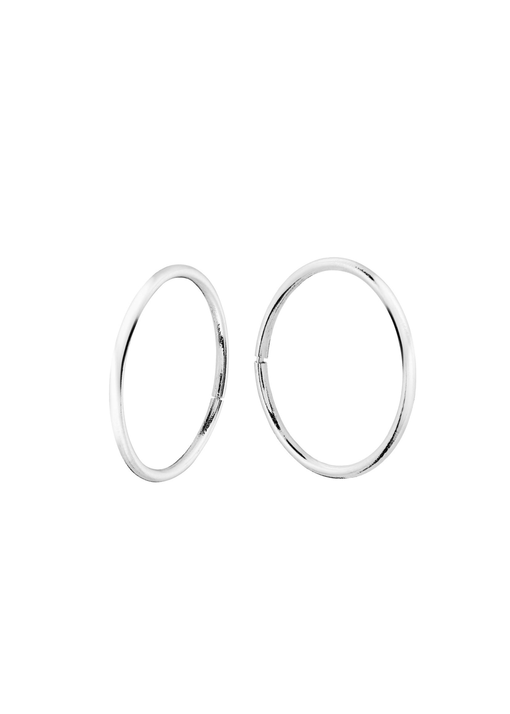 Boucles d'oreilles Dormeuses Anneaux Or blanc 10K