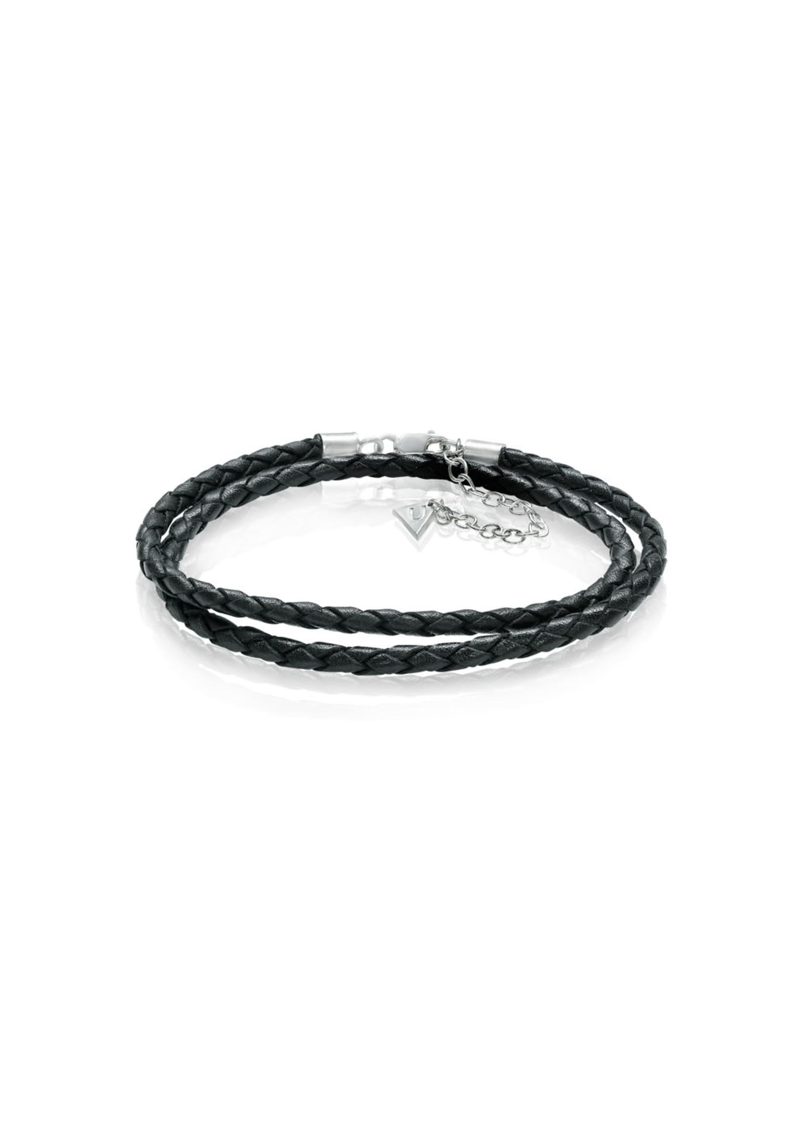 LokÜs Bracelet Bariza en Cuir tressé véritable