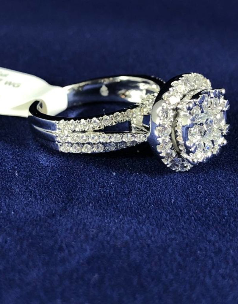 Diamond Engagement Ring 2.00 ctw Round Cut, Halo Style 14KT White Gold