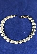 "Moda Gold Bracelet; 14KT Yellow Gold Medium Thickness, 7"""