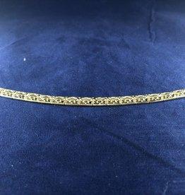 "Rectangle Moda Gold Bracelet; 14KT Yellow Gold Medium Thickness, 7.5"""