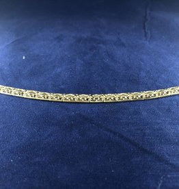 "Rectangle Shape Moda Gold Bracelet; 14KT Yellow Gold Medium Thickness, 7.5"""