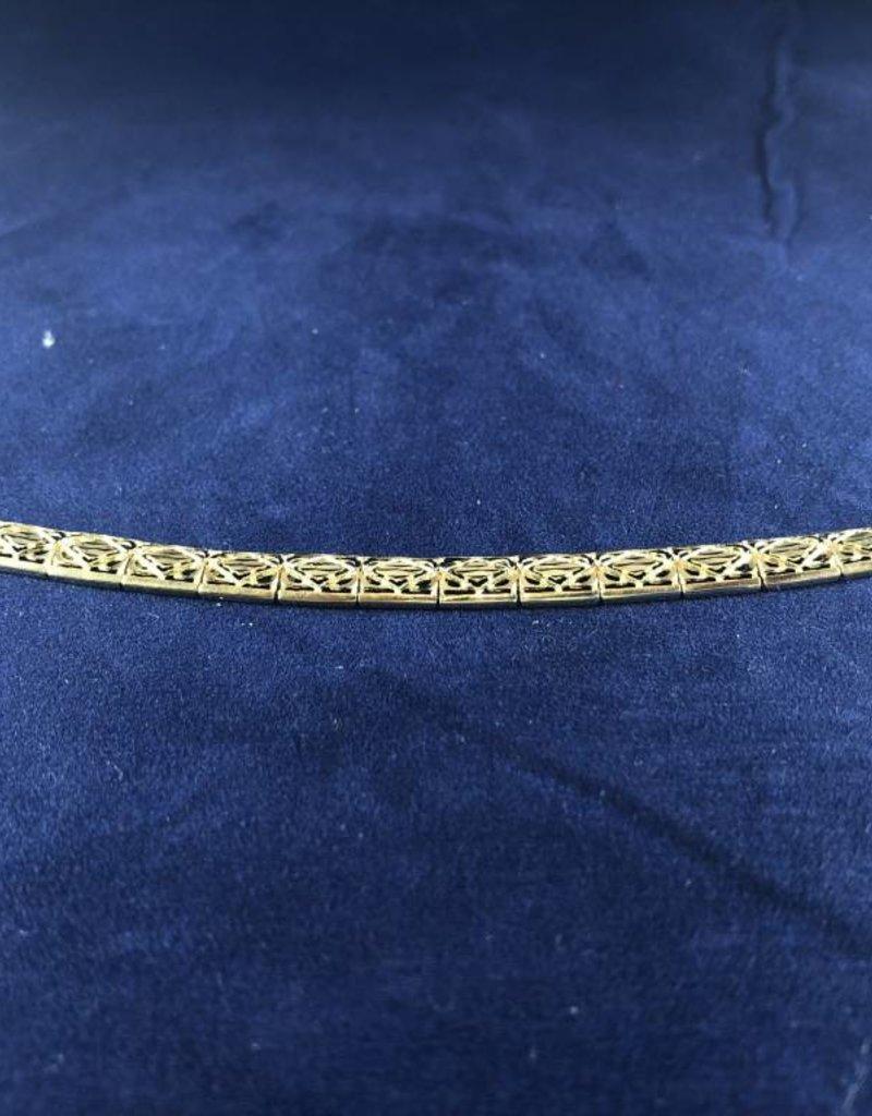 "Rectangle Shape Moda Gold Bracelet; 14KT Yellow Gold Medium Thickness, 8""Rectangle Shape Moda Gold Bracelet; 14KT Yellow Gold Medium Thickness, 7.5"""