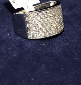 1.50 CTW Diamond Cocktail Band; 14KT White Gold