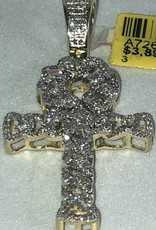 Diamond Cross Pendant 0.48 ctw 14KT White Gold