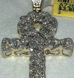 Diamond Cross Pendant 0.48 ctw 14KT Yellow Gold