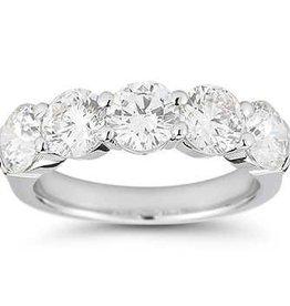Round Cut Diamonds, 0.50 ctw Lady's Wedding Band 14KT White Gold