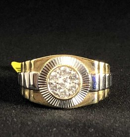 Diamonds, Rolex style, 0.48ctw Round Cut, Man's Ring