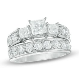 Diamond Ladies' Wedding Set 1.44 ctw 14KT White Gold