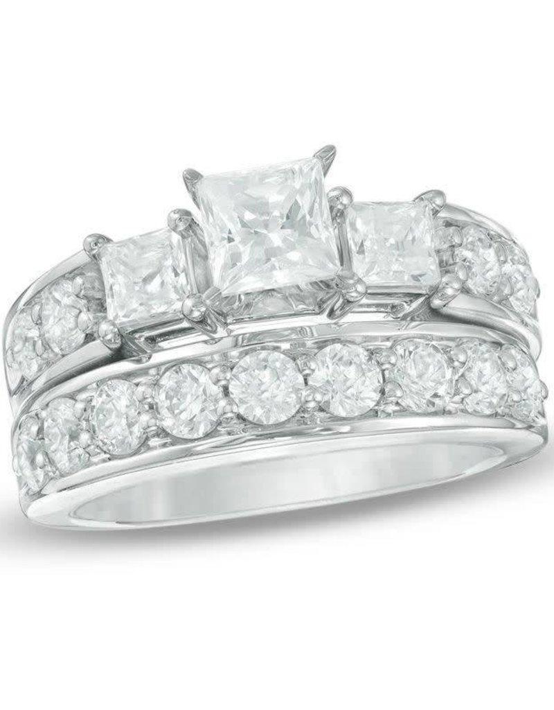 Diamond Ladies' Wedding Set  1.44 ctw 14KT White Gold