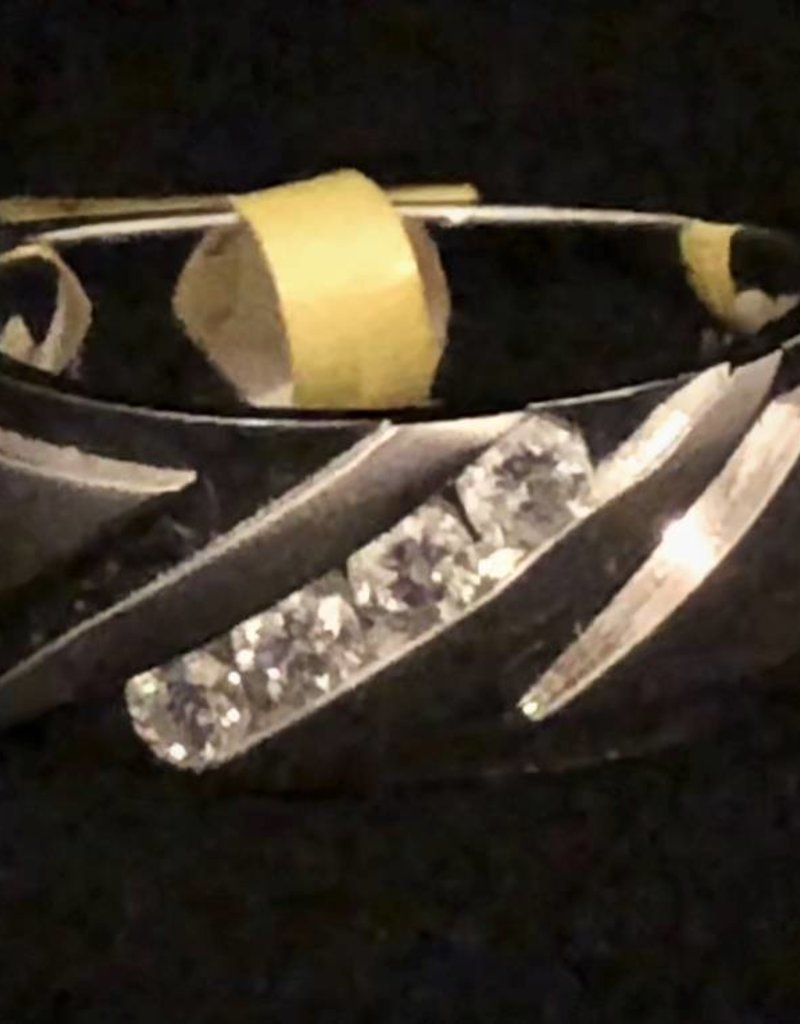 Diamond Men's Band; 0.48 ctw; 14KT White Gold