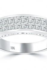 Diamond Men's Band 1.97 ctw Princess cut 14K White Gold