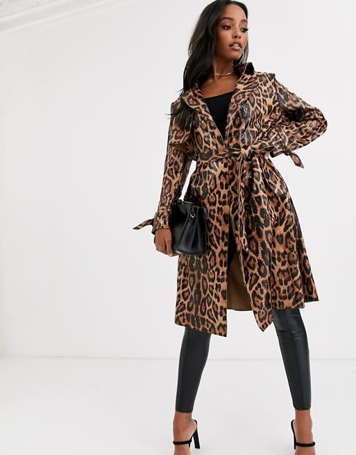 JAYLEY COLLECTION JC SUACT45A-09 ANIMAL PRINT FAUX SUEDE JACKET