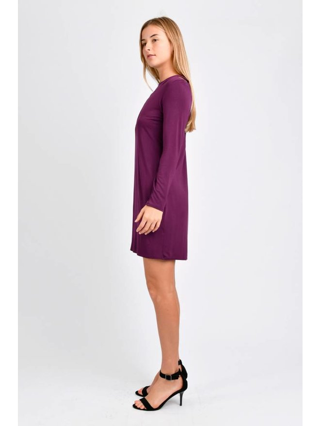 76bcf9c3663 TEN TOMORROW Eve Long Sleeve Dress (Amaranthine). Sale