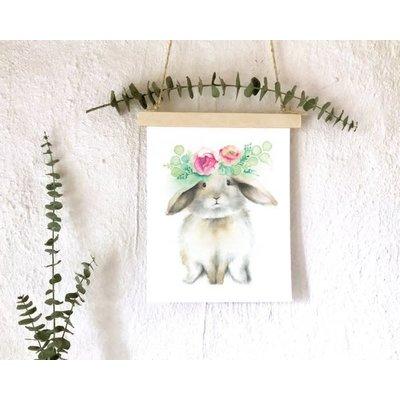 KatrinnIllustration Affiche - Lapin floral