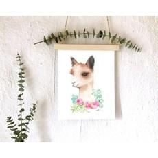 Affiche -  Alpaga floral