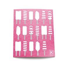 KLIIN Petit essuie-tout réutilisable - Rose popsicles blancs