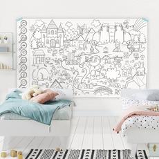 Atelier Rue Tabaga Affiche géante à colorier + Cherche et trouve - La forêt enchantée