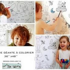 Atelier Rue Tabaga Affiche géante à colorier - Les petits monstres