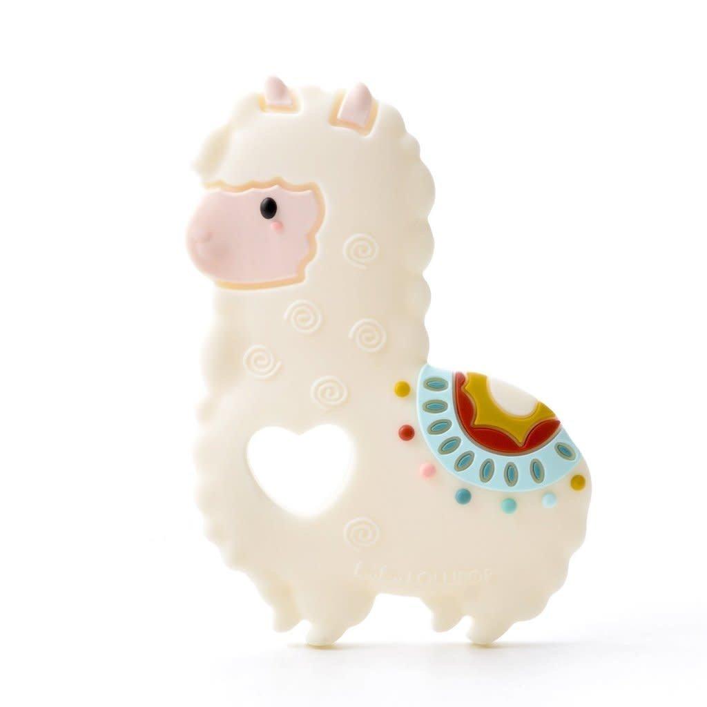 Loulou lollipop Jouet de dentition en silicone - Le lama