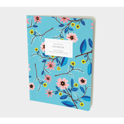 Paige & Willow Cahier - Floral turquoise