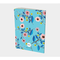 Cahier turquoise florale