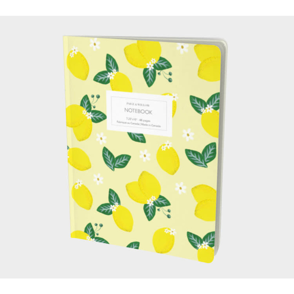 Paige & Willow Cahier - Citrons
