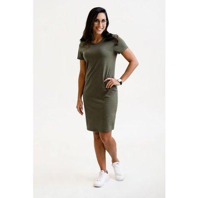 Rose Maternité Robe Intrigue - Vert Kaki