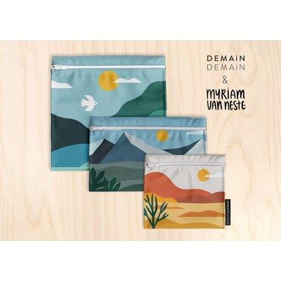DemainDemain Trio Lunch Artiste - Paysage Orange