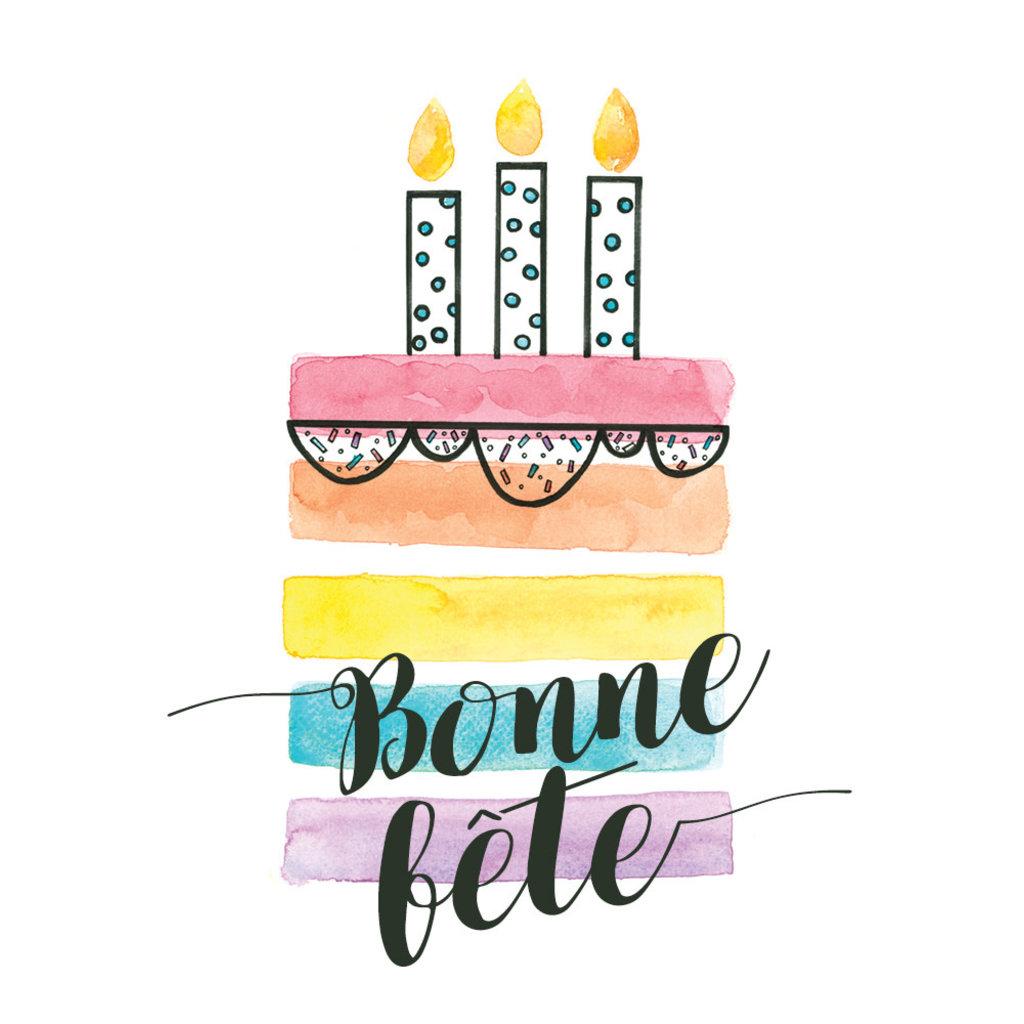 Stéphanie Renière Carte - Bonne fête / Gâteau