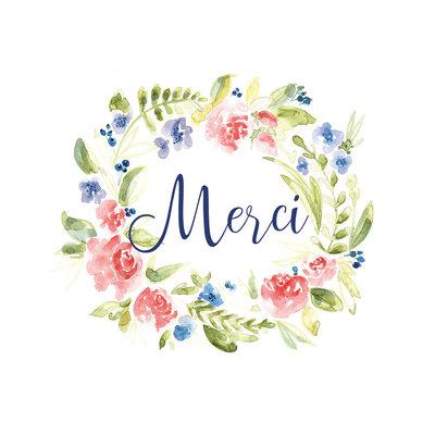 Stéphanie Renière Carte - Merci / Fleurs