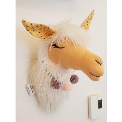La Petite Renarde Tête de lama décorative