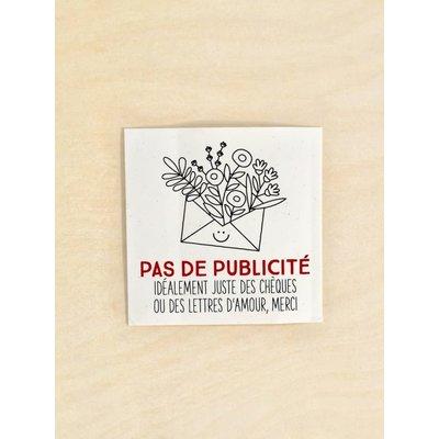 DemainDemain Collant « Pas de publicité »