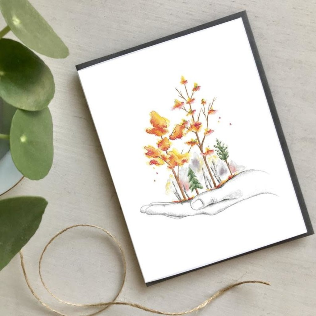 Carte - Un automne dans la main