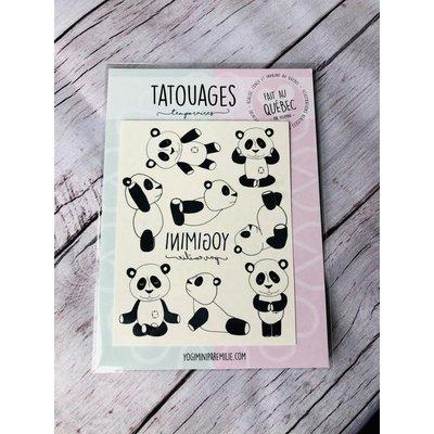 Yogimini Tatouages temporaires - Panda