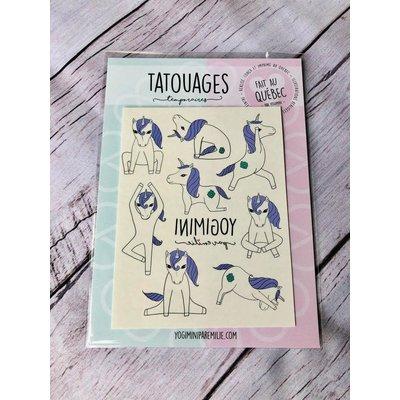Yogimini Tatouages temporaires - Licornes